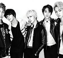 Black and White SHINee by PaigeStar