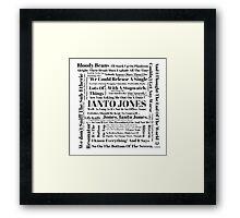 Ianto Jones Quotes Framed Print