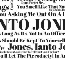 Ianto Jones Quotes Sticker