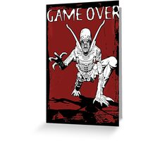 Game Over Man! Greeting Card