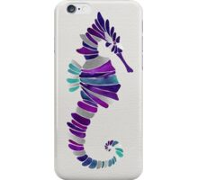 Seahorse – Purple & Silver iPhone Case/Skin