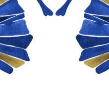 Seahorse – Navy & Gold Sticker