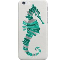 Seahorse – Turquoise & Silver iPhone Case/Skin