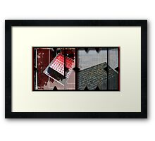 Open work about Open red (9) Framed Print
