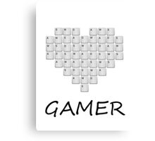 PC Gamer Heart Canvas Print