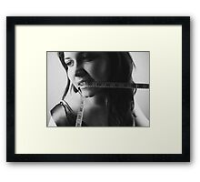 Screw this size zero culture! Framed Print
