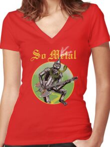 So Metal Women's Fitted V-Neck T-Shirt