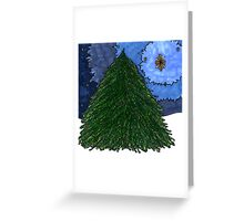 Christmas Tree Star Greeting Card