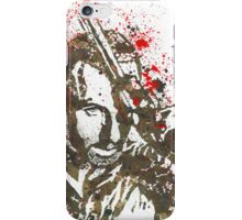 Rick Grimes The Walking Dead Watercolor and Ink iPhone Case/Skin