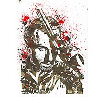 Rick Grimes The Walking Dead Watercolor and Ink Photographic Print