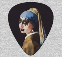 Vermeer - Girl with pearl earring - Kiss - Gene Simmons make up by spazivuoti