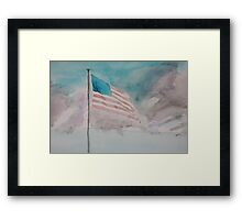 Storm over Patriotism Framed Print