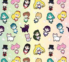 Sailor Senshi Party by juiceboxjay