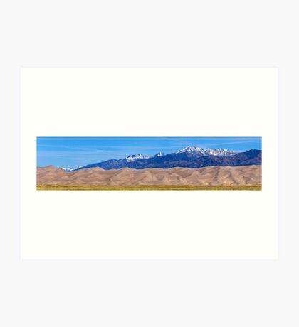 Great Sand Dunes National Park Panorama Art Print