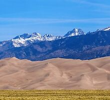 Great Sand Dunes National Park Panorama by Bo Insogna