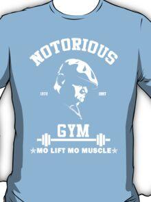 Notorious Gym - Mo Lift Mo Muscle Biggie Motivational Mashup T-Shirt
