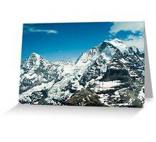 Mönch and Jungfrau Greeting Card