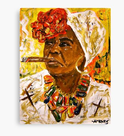 The Lady from Old Havana Canvas Print
