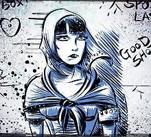 Louise Brooks, Art, brooksie, drawing, illustration, silent film, movie, star, female, girl, 20's, 30's, woman, actress, pandora's box, diary, lost, joe badon, starlet   by Joe Badon