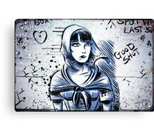 Louise Brooks, Art, brooksie, drawing, illustration, silent film, movie, star, female, girl, 20's, 30's, woman, actress, pandora's box, diary, lost, joe badon, starlet   Canvas Print
