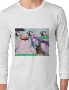 Skull Glitch Long Sleeve T-Shirt