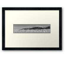 Great Sand Dunes National Park Panorama BW Framed Print