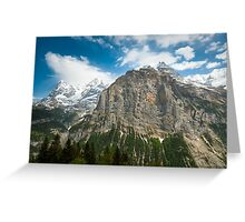 Eiger, Mönch and part of Jungfrau mountain Greeting Card