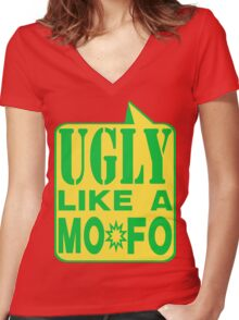 UGLY MOFO Women's Fitted V-Neck T-Shirt