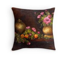 ROSES AND PEACHES Throw Pillow