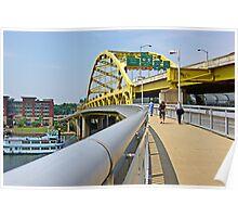 Yellow bridge of Pittsburgh Poster