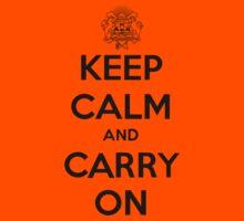Keep Calm Carry On Calgary Black Kids Tee