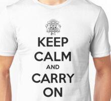 Keep Calm Carry On Calgary Black Unisex T-Shirt