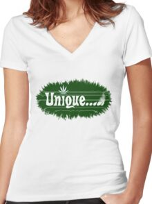 Unique smoke Women's Fitted V-Neck T-Shirt
