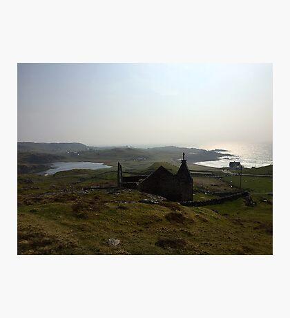 Church in Stoer, Scottish Highlands Photographic Print