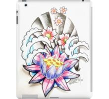 lotus and blossoms in water iPad Case/Skin