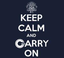 Keep Calm Carry On Calgary White Baby Tee