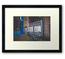 Hidden Street Somewhere... Framed Print