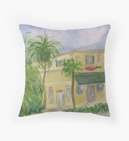 Bull Bar on Atlantic Ave Delray Beach Throw Pillow