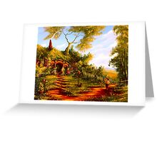 The Morning Standoff. Greeting Card