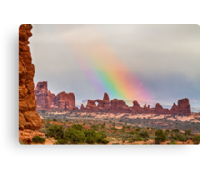 Rainbow Down Canvas Print