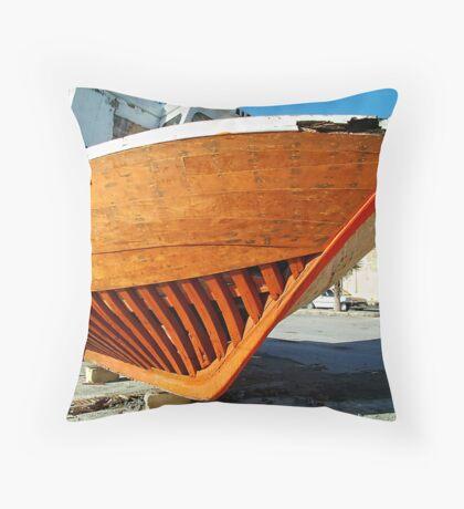 Orange Ribs Throw Pillow