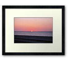 Tampa Bay Sunset Framed Print