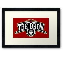 The Brow (Black) Framed Print