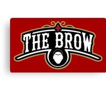 The Brow (Black) Canvas Print