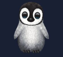 Cute Baby Penguin on Blue Kids Clothes
