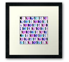 Girly Watercolor Brush Stroke Stripes Framed Print