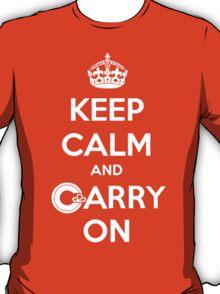 Keep Calm Carry On Calgary White T-Shirt