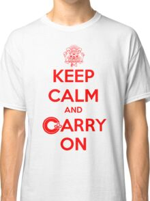 Keep Calm Carry On Calgary Red Classic T-Shirt