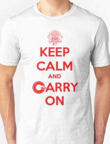 Keep Calm Carry On Calgary Red T-Shirt