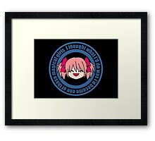 Laughing Man Madoka Logo Framed Print
